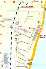 Cha Am Tourist Map