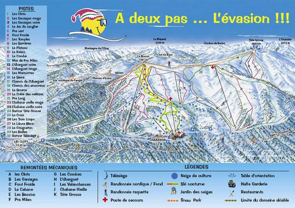 Chabanon Ski Trail Map Chabanon 04140 Selonnet AlpesdeHaute