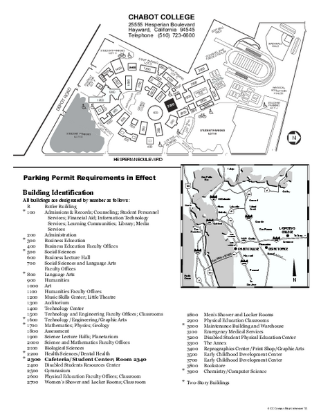 Chabot College Campus Map