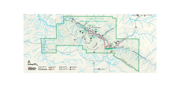 Chaco Culture National Historical Park Official Park Map