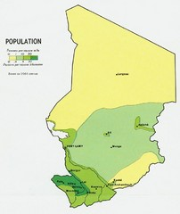 Chad Population Map 1964
