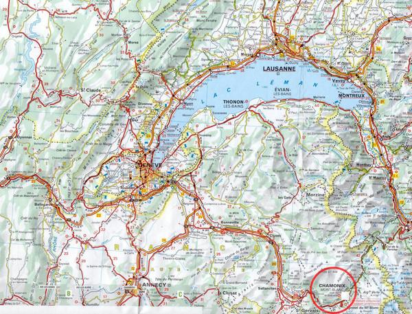 France Map Chamonix