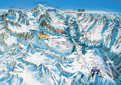 Chamonix Piste Ski Area Trail Map