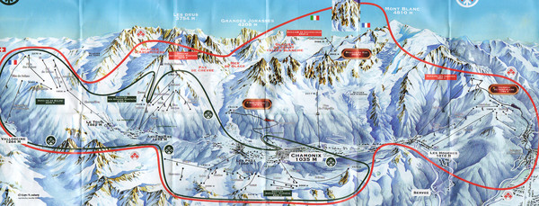 Chamonix Valley Town Map