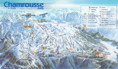 Chamrousse Ski Trail Map
