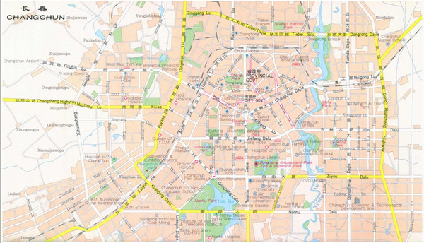 Changchun City Map
