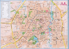 Changchun City Tourist Map