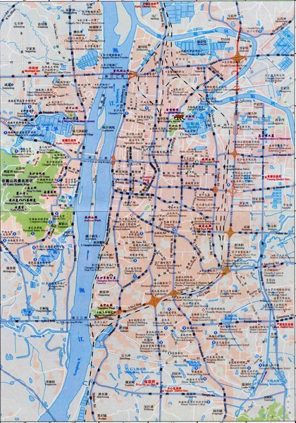 Changsha Tourist Map