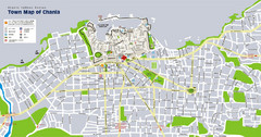 Chania Tourist Map