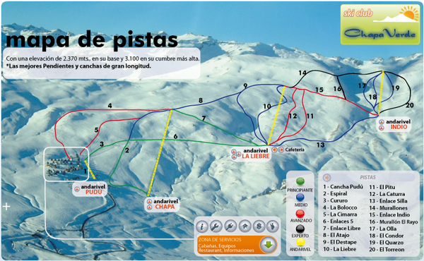 Chapa Verde Ski Trail Map