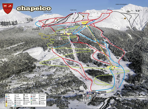 Chapelco Ski Trail Map