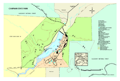 Chapman State Park map