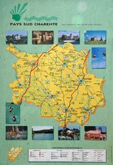 Charente Region Tourist Map