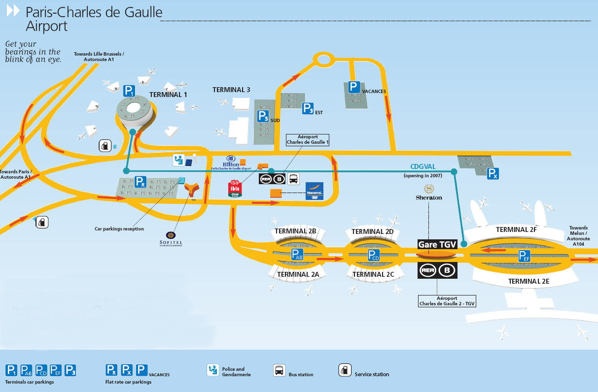 Charles de gaulle airport map cdg airport mappery - Planning and design of airports pdf ...