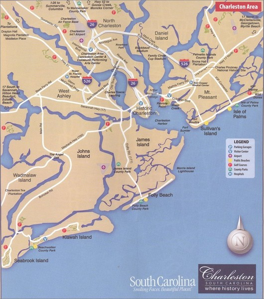 Charleston Tourist Map Charleston South Carolina mappery – Charleston Tourist Map
