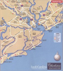 Charleston, South Carolina Tourist Map
