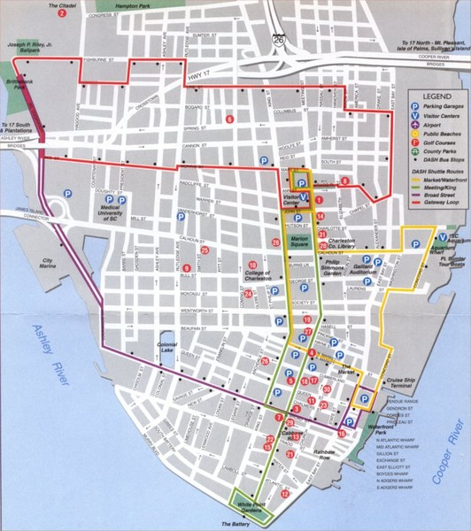 Charleston Tourist Map Charleston South Carolina mappery – Charleston Sc Tourist Attractions Map