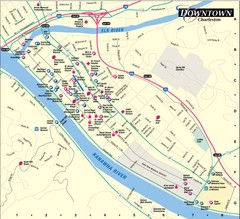 Charleston WV City Map