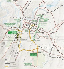 Chattanooga Guide Map