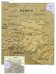 Chechnya Country Map