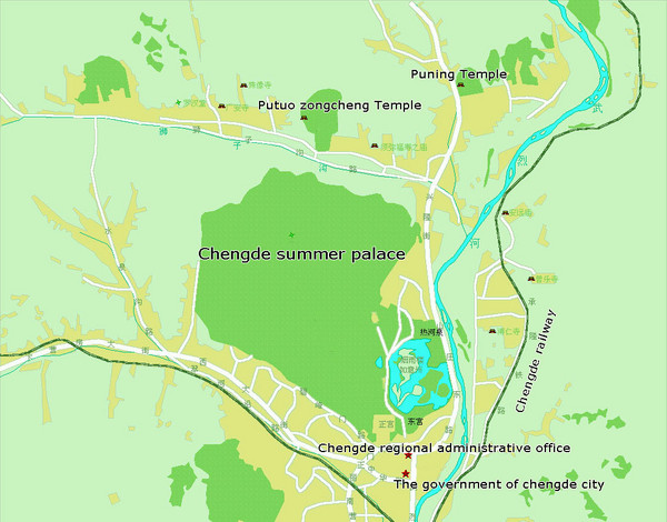 Chengde China Tourist Map