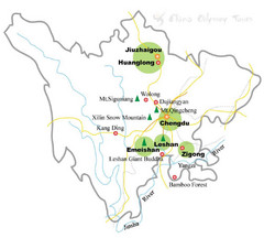 Chengdu China Cities Map