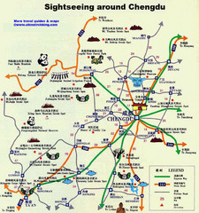 Chengdu Tourist Map