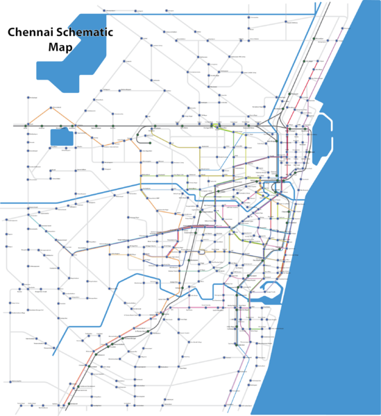 Chennai Schematic Bus Map