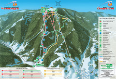 Chepelare ski map