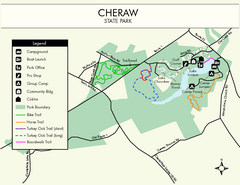 Cheraw State Park Map