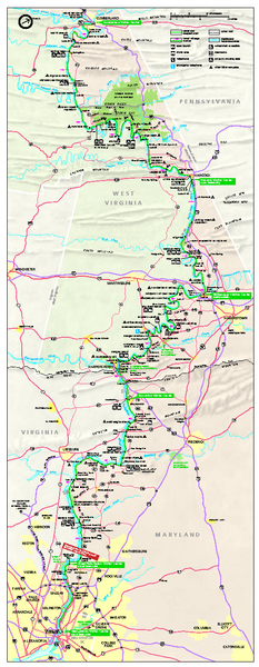 Chesapeake & Ohio Canal National Historical Park Official Park Map