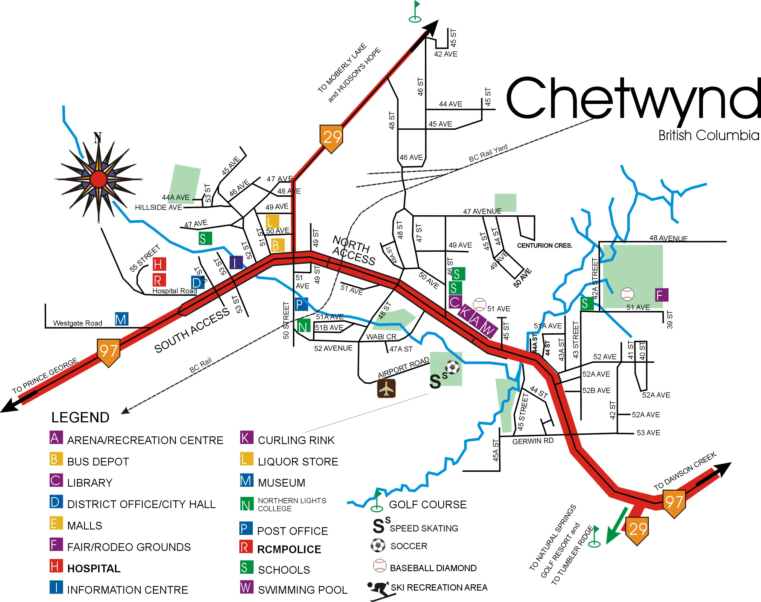 Where Is Chetwynd Bc Map Chetwynd Town Map   Chetwynd British Columbia CA • mappery