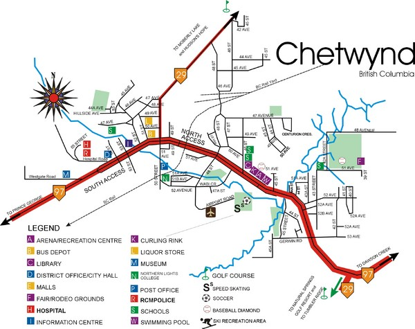 Chetwynd Town Map