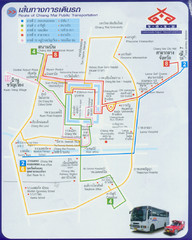 Chiang Mai Bus Map (Thai)