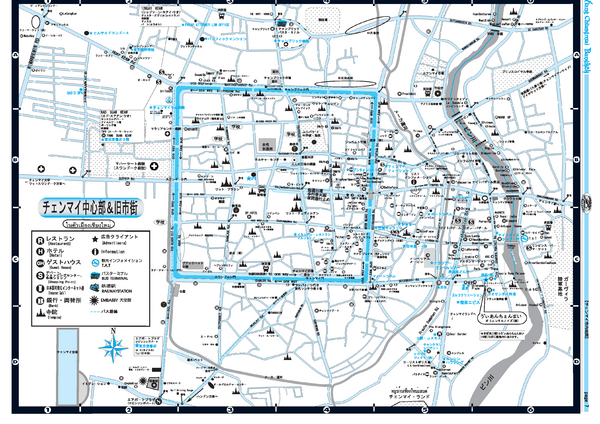 Chiang Mai City Tourist Map (Japanese)