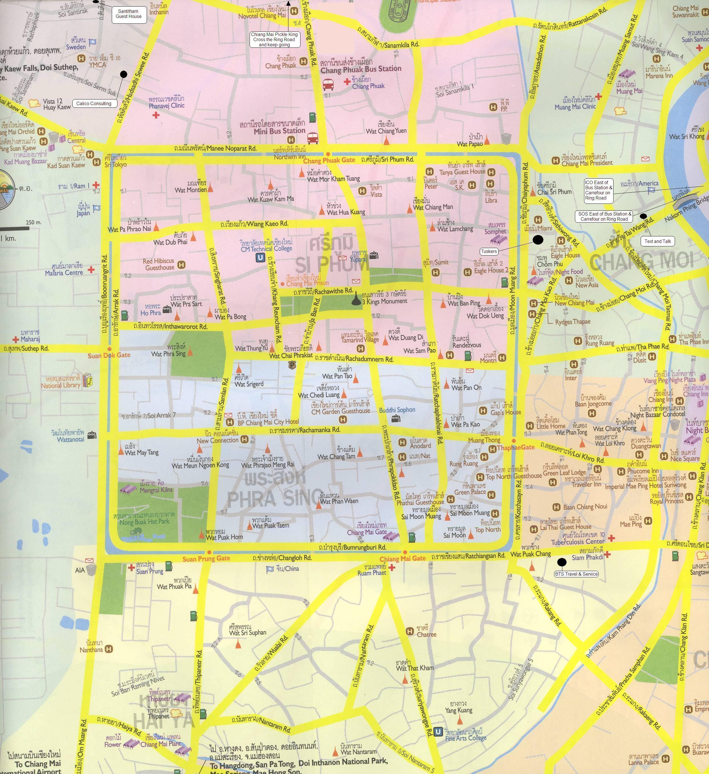 Chiang Mai Hotel Map Chiang Mai mappery
