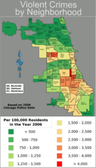 Chicago 2006 Violent Crime Map