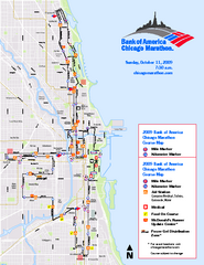 Chicago 2009 Marathon Map