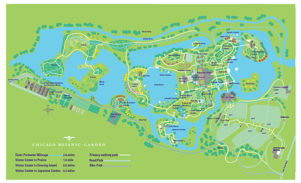 Chicago Botanic Garden Map