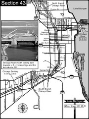 Chicago, IL Sanitary & Ship Canal/Chicago River Map