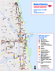 Chicago Marathon Course Map 2008