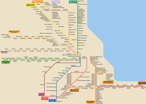 Chicago public transportation routes