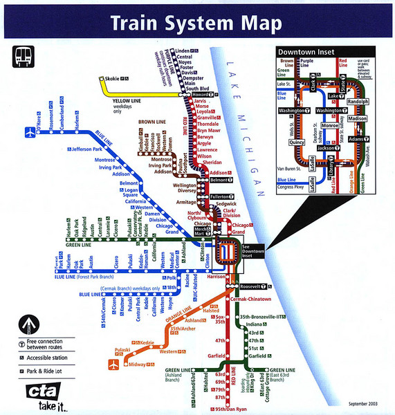 Chicago Train System Map