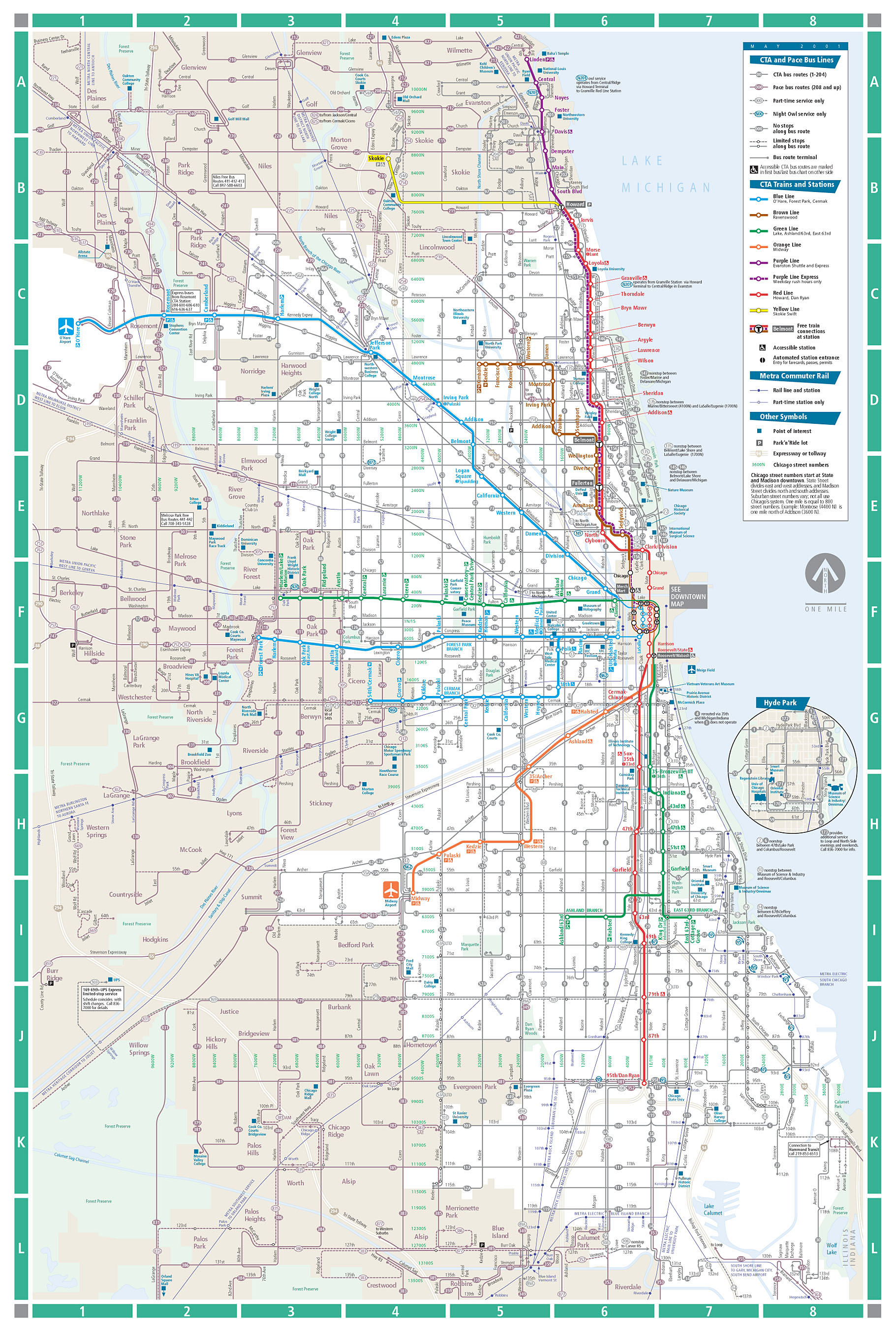 Transit Chicago Map