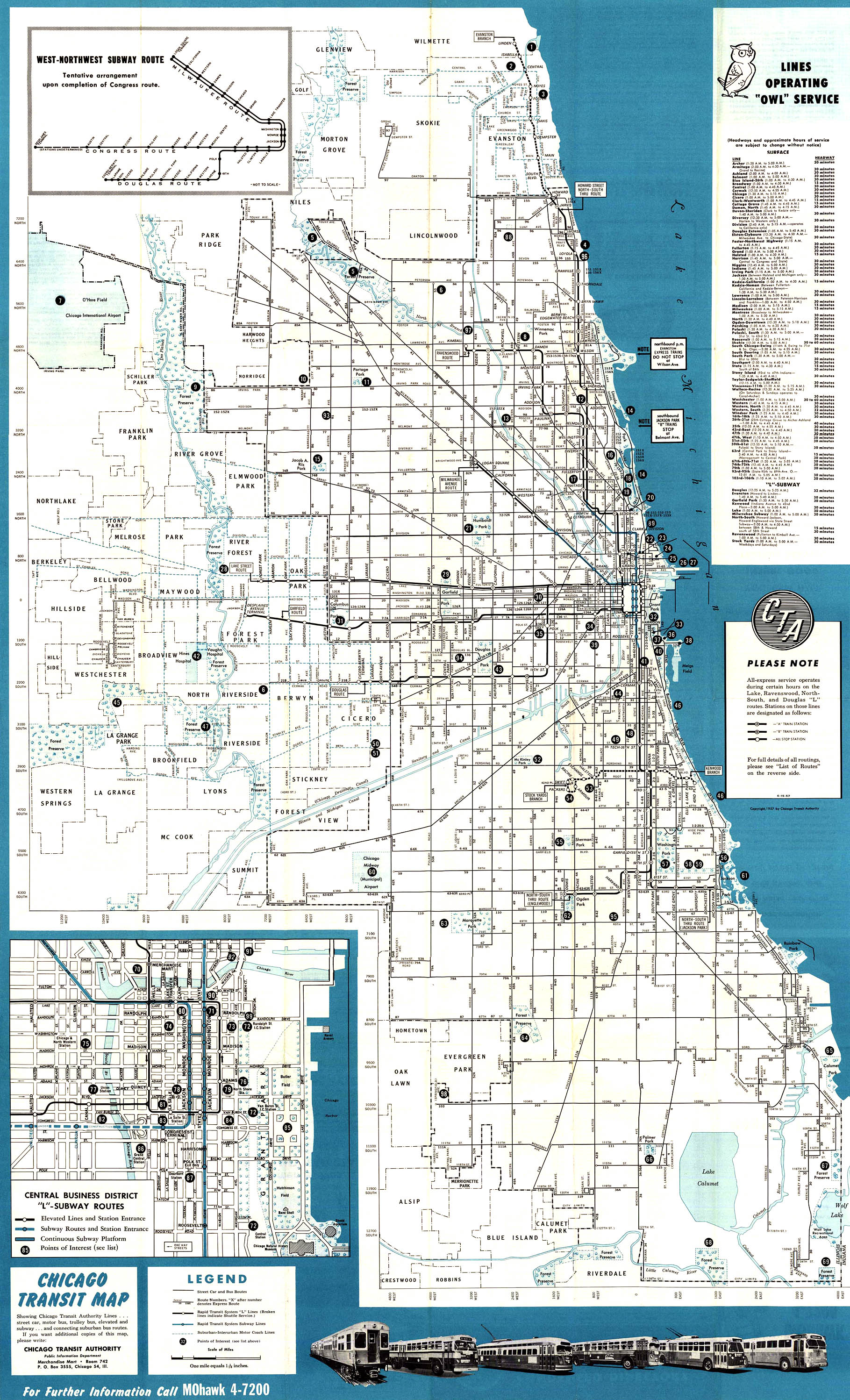 Chicago Transit Map Chicago Illinois USA mappery
