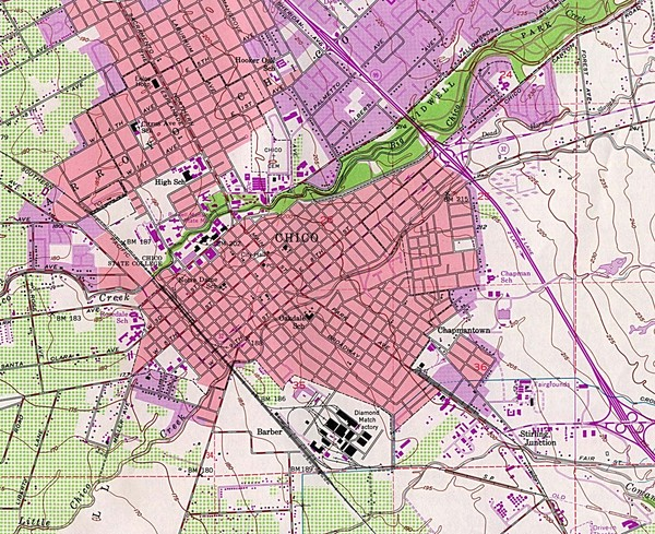 Chico, California City Map