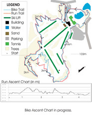 Chicopee Ski Club Summer Ski Trail Map