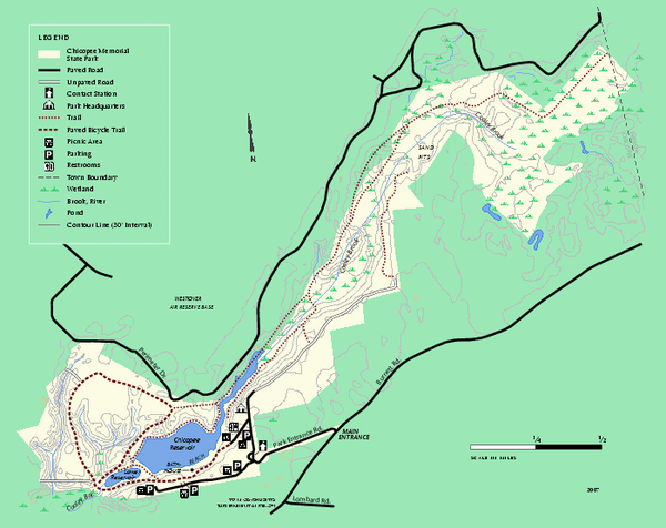 Chicopee State Park trail map
