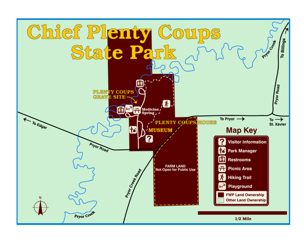 Chief Plenty Coups State Park Map