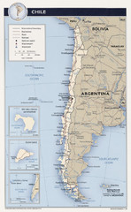 Chile Tourist Map